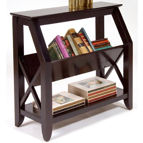Liberty Furniture Piedmont Bookshelf with Center Magazine Rack and Bottom Shelf