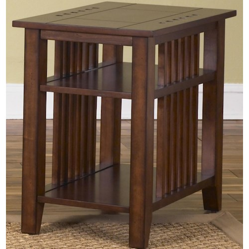 Liberty Furniture Prairie Hills Chair Side Table with 2 Shelves