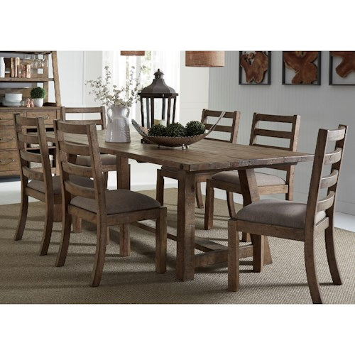 Liberty Furniture Prescott Valley Dining 7 Piece Table & Chair Set