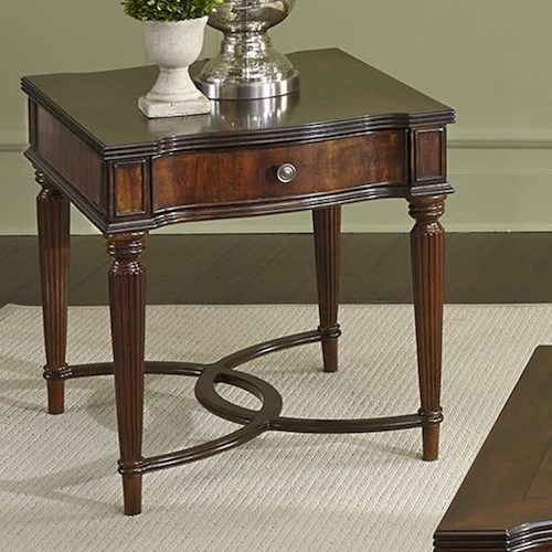 Vendor 5349 Regent Park Traditional End Table with 1 Drawer