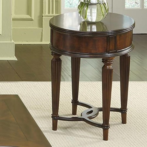 Vendor 5349 Regent Park Tradtional Oval Chair Side Table