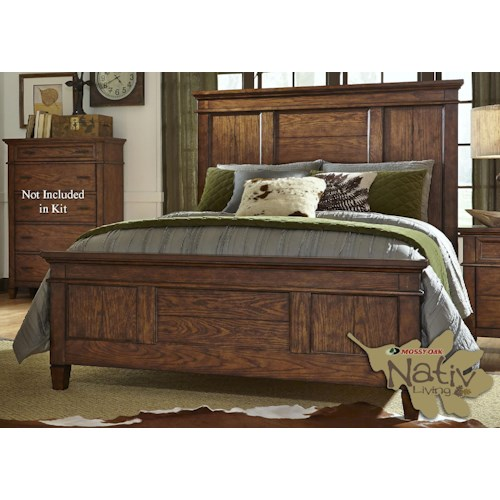Liberty Furniture Rocky Mountain 616 Queen Panel Bed