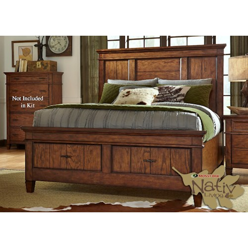 Liberty Furniture Rocky Mountain 616 Queen Storage Bed