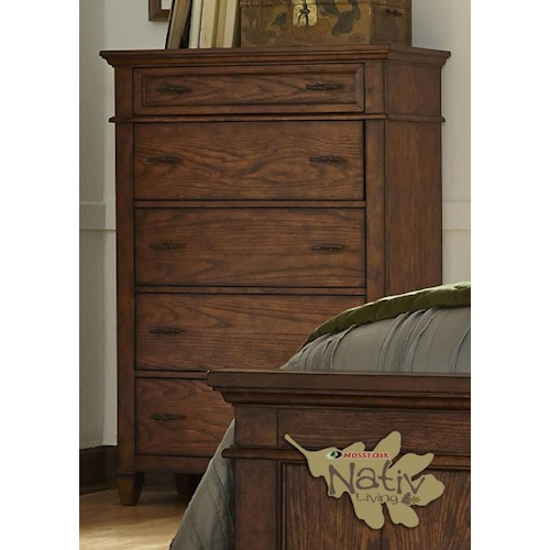Liberty Furniture Rocky Mountain 616 Chest with Five Dovetail Drawers