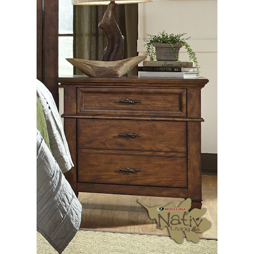 Liberty Furniture Rocky Mountain 616 Nightstand with Two Dovetail Drawers