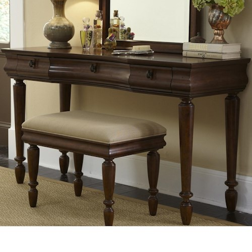 Vendor 5349 Rustic Traditions Vanity Base with 3 Drawers