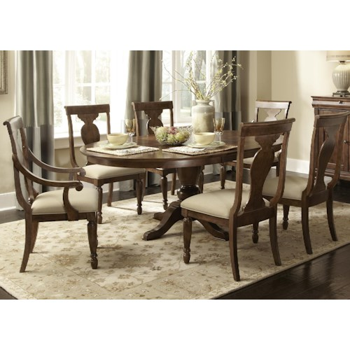Liberty Furniture Rustic Traditions 7 Piece Oval Table Set