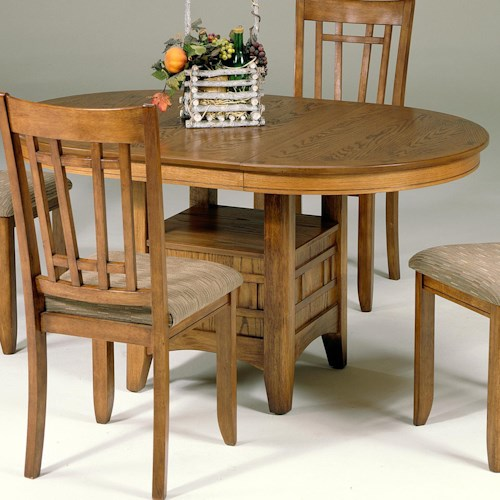 Liberty Furniture Santa Rosa Oval Pedestal Table with Storage Base