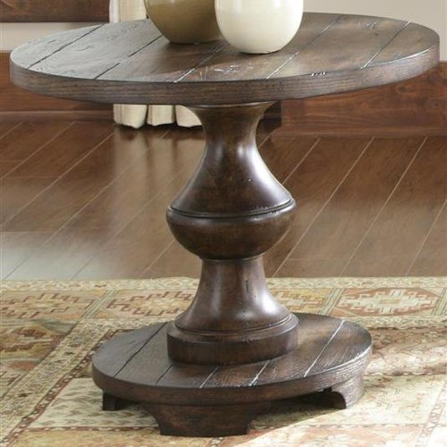 Liberty Furniture Sedona Traditional Pedestal End Table