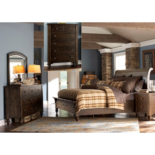 Vendor 5349 Southern Pines King Bedroom Group