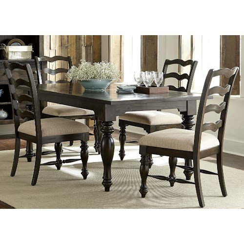 Vendor 5349 Southern Pines 5 Piece Rectangular Dining Table and Chair Set