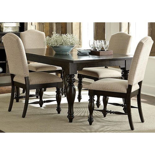 Vendor 5349 Southern Pines Opt 5 Piece Rectangular Dining Table and Chair Set