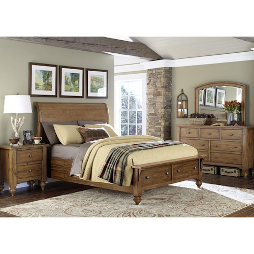 Vendor 5349 Southern Pines Queen Bedroom Group