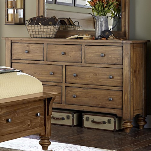 Liberty Furniture Southern Pines 7 Drawer Dresser made of Solid Pine