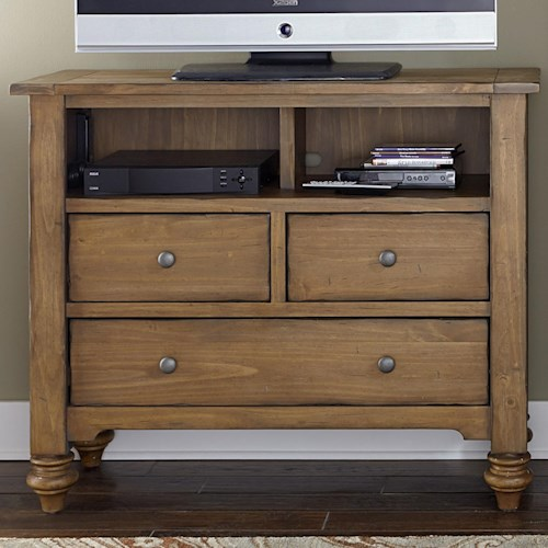 Liberty Furniture Southern Pines Media Chest made of Solid Pine