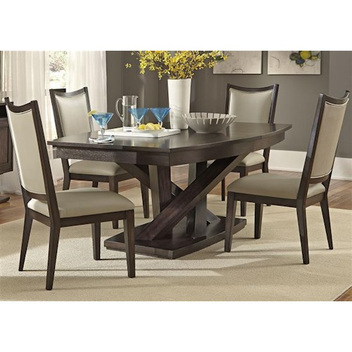 Vendor 5349 Southpark Contemporary 5 Piece Dining Set