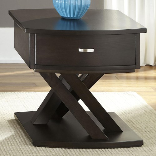 Liberty Furniture Southpark End Table with 1 Drawer