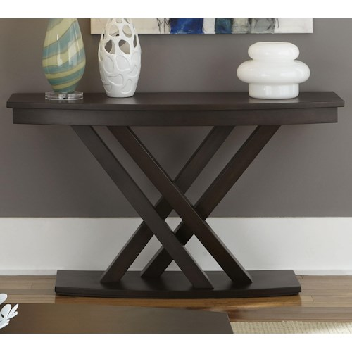 Liberty Furniture Southpark Sofa Table with Crisscrossed Base