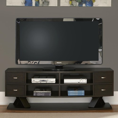 Vendor 5349 Southpark Entertainment TV Stand with Crisscrossed Base