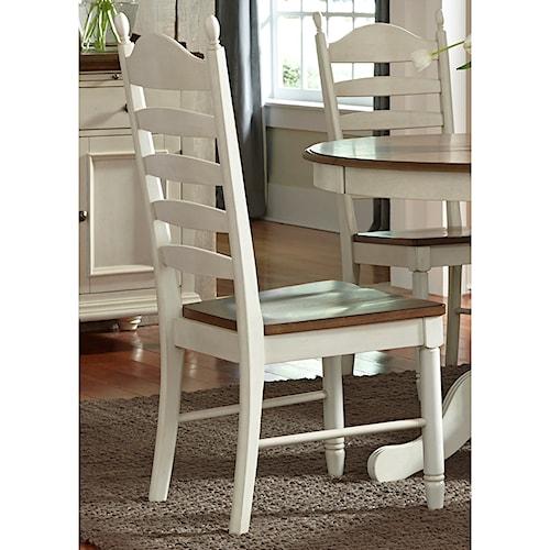 Vendor 5349 Springfield Dining Ladder Back Side Chair