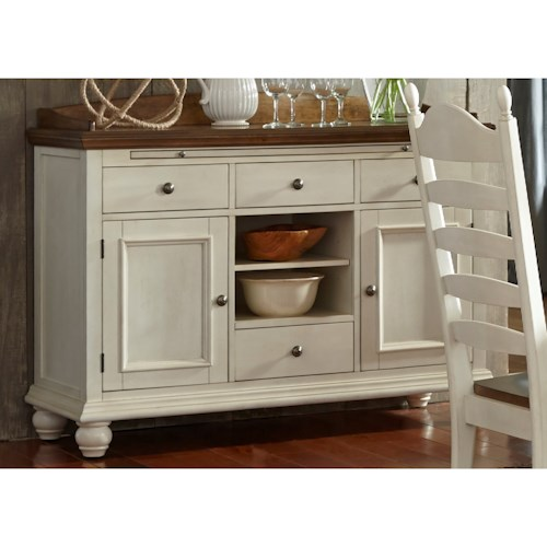 Vendor 5349 Springfield Dining 4 Drawer Sideboard with Felt-Lined Drawers