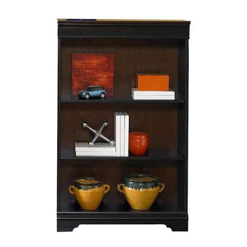Liberty Furniture St. Ives Traditional 48-Inch Executive Open Bookcase