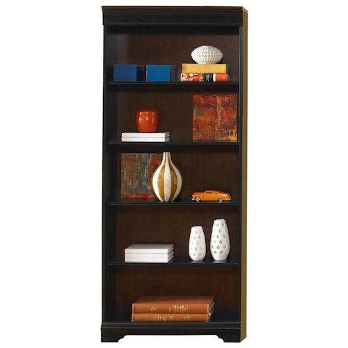 Liberty Furniture St. Ives Traditional 72-Inch Executive Open Bookcase