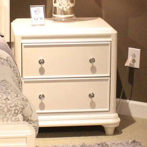 Vendor 5349 Stardust Contemporary Glam 2 Drawer Night Stand
