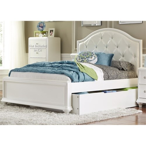 Vendor 5349 Stardust Full Trundle Bed with Tufted Headboard