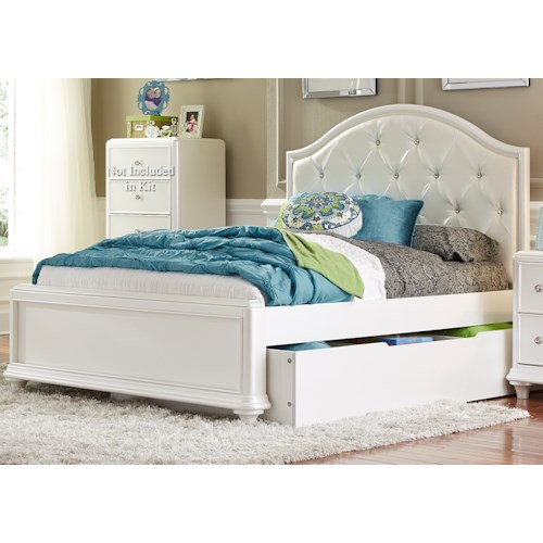 Liberty Furniture Stardust Twin Trundle Bed with Tufted Headboard