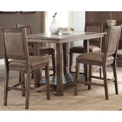 Vendor 5349 Stone Brook Casual 5 Piece Gathering Table Set