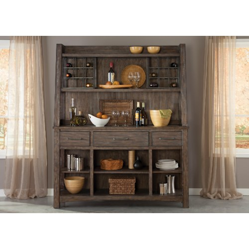 Liberty Furniture Stone Brook Rustic Hutch & Buffet