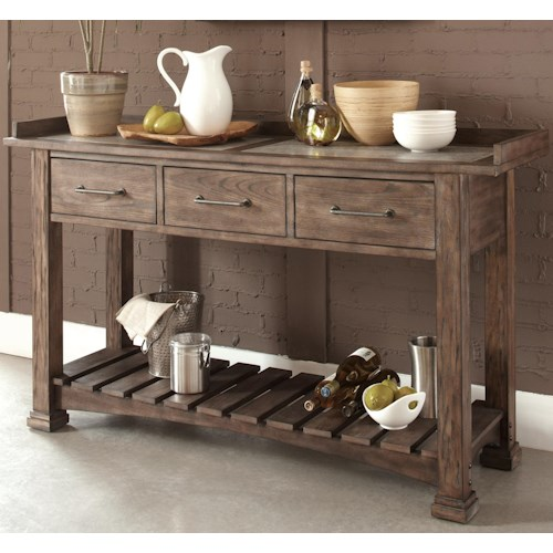Vendor 5349 Stone Brook Casual Server With 3 Drawers