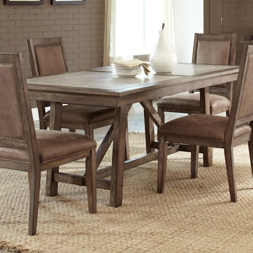 Vendor 5349 Stone Brook Casual Cement Top Trestle Table
