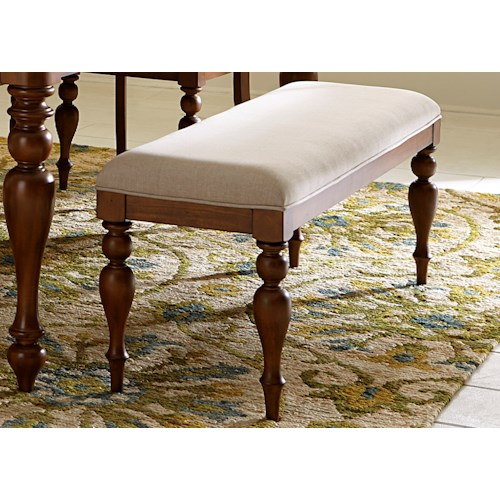 Vendor 5349 Summer House Transitional Dining Bench with Turned Legs