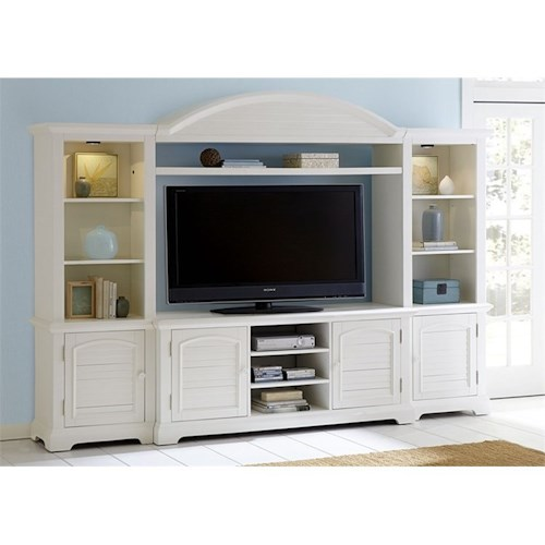 Liberty Furniture Summer House - -816253672 Entertainment Center with Piers and LED Touch Lighting