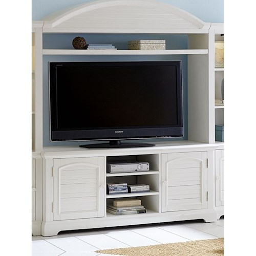 Liberty Furniture Summer House Entertainment Center with LED Touch Lighting