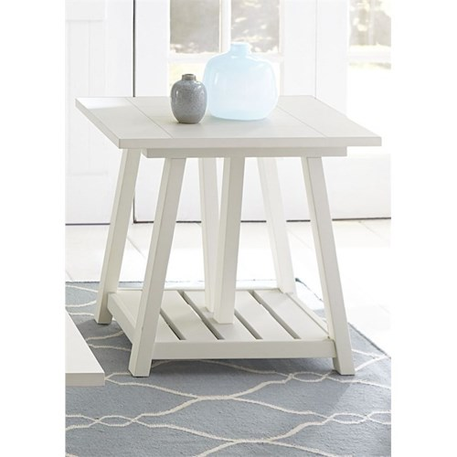 Liberty Furniture Summer House I End Table with Bottom Shelf