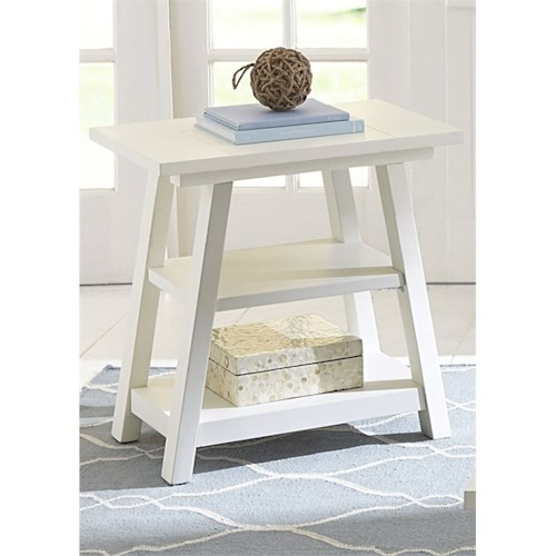Vendor 5349 Summer House I Chair Side Table with Shelves