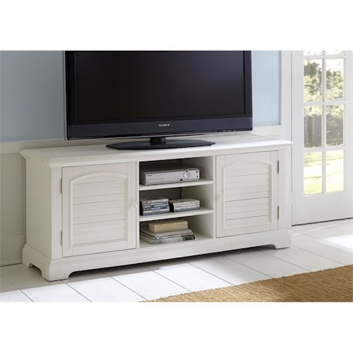 Liberty Furniture Summer House - -816253672 Entertainment TV Stand with Adjustable Shelves