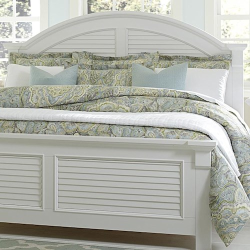 Liberty Furniture Summer House Arched King Panel Headboard