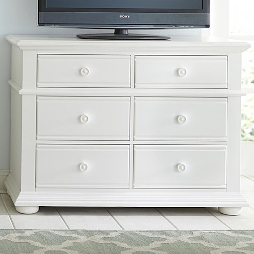 Vendor 5349 Summer House Cottage Media Chest with 6 Drawers