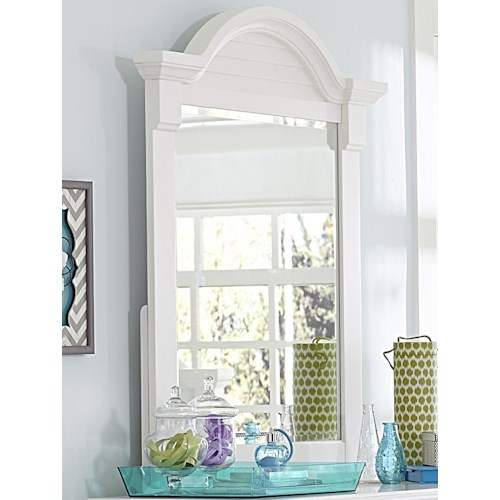 Liberty Furniture Summer House Arched Crown Moulding Small Dresser Mirror
