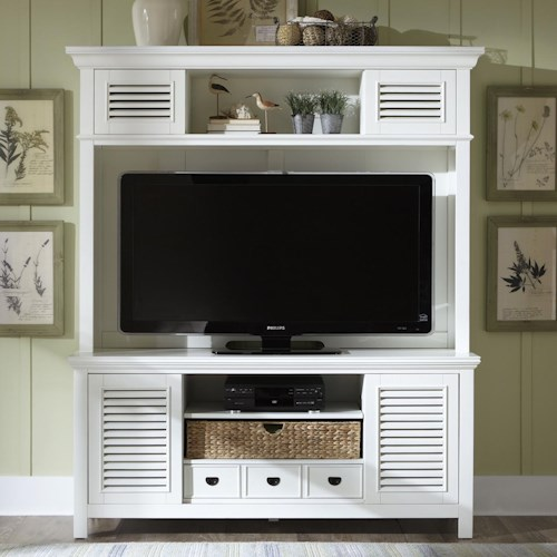 Vendor 5349 Summerhill Entertainment Center with Drawer, Sliding Doors, and Adjustable Center Shelf