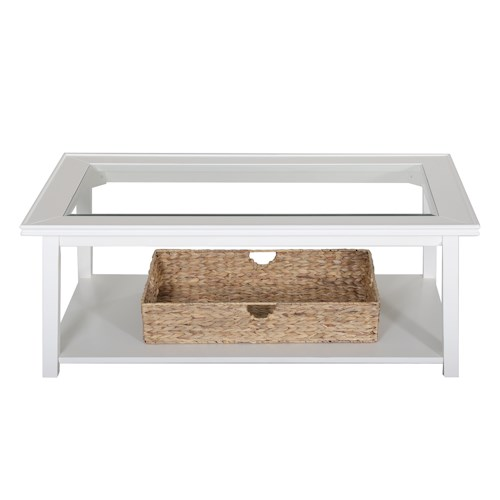 Liberty Furniture Summerhill Rectangular Cocktail Table with Glass Top