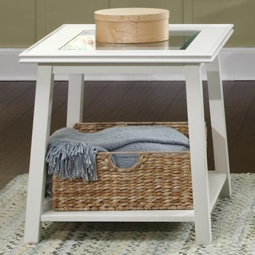 Liberty Furniture Summerhill End Table with Lower Shelf