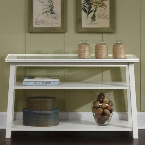 Liberty Furniture Summerhill Sofa Table with 2 Lower Shelves