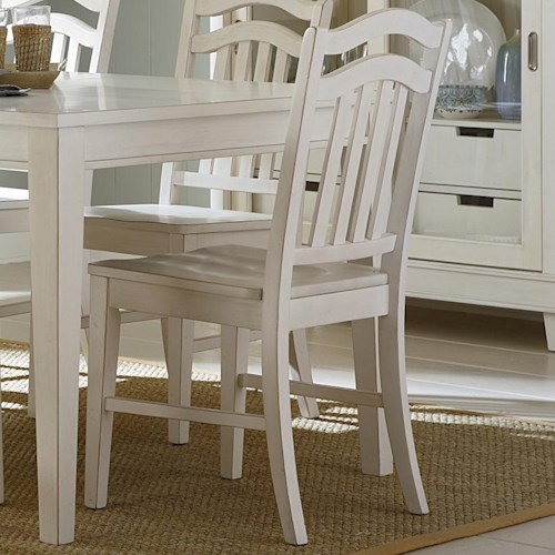 Liberty Furniture Summerhill Slat Back Dining Side Chair
