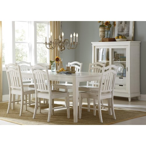 Liberty Furniture Summerhill Seven-Piece Rectangular Table and Chair Dining Set