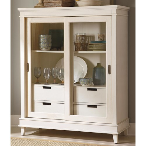Liberty Furniture Summerhill Sliding Door China Display Cabinet